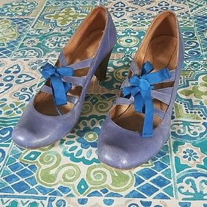 Adorable topshop blue block heels